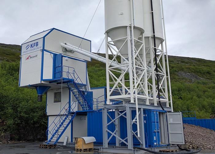 COBRA C80 MOBIL till vindkraftverksprojekt, Kirkenes Färdigbetong, Båtsfjord, Norge.