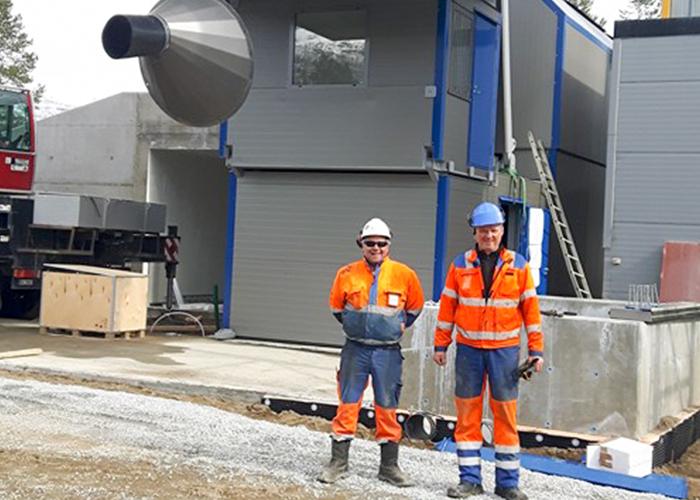 COBRA C80 fast färdigbetongfabrik, Storegga Betong, Bardufoss, Norge.