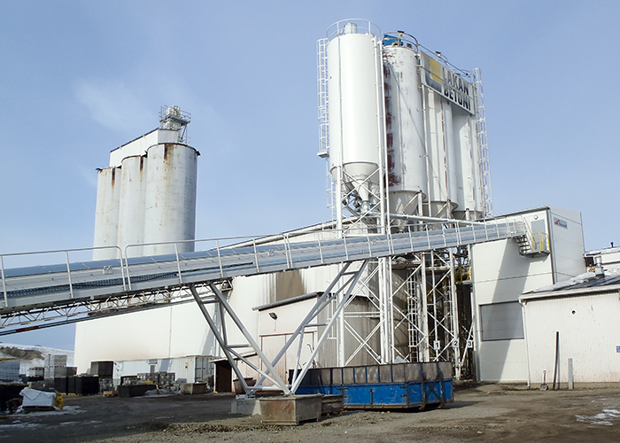 Concrete block factory plant, Lakan betoni, Loppi, Finland