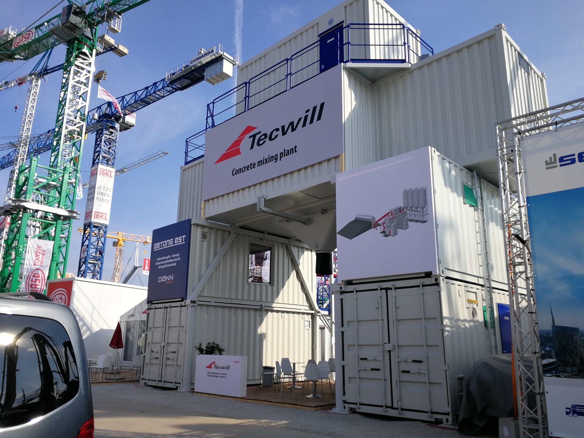 Tecwill Arcamix Передвижной бетонный завод модульной конструкции