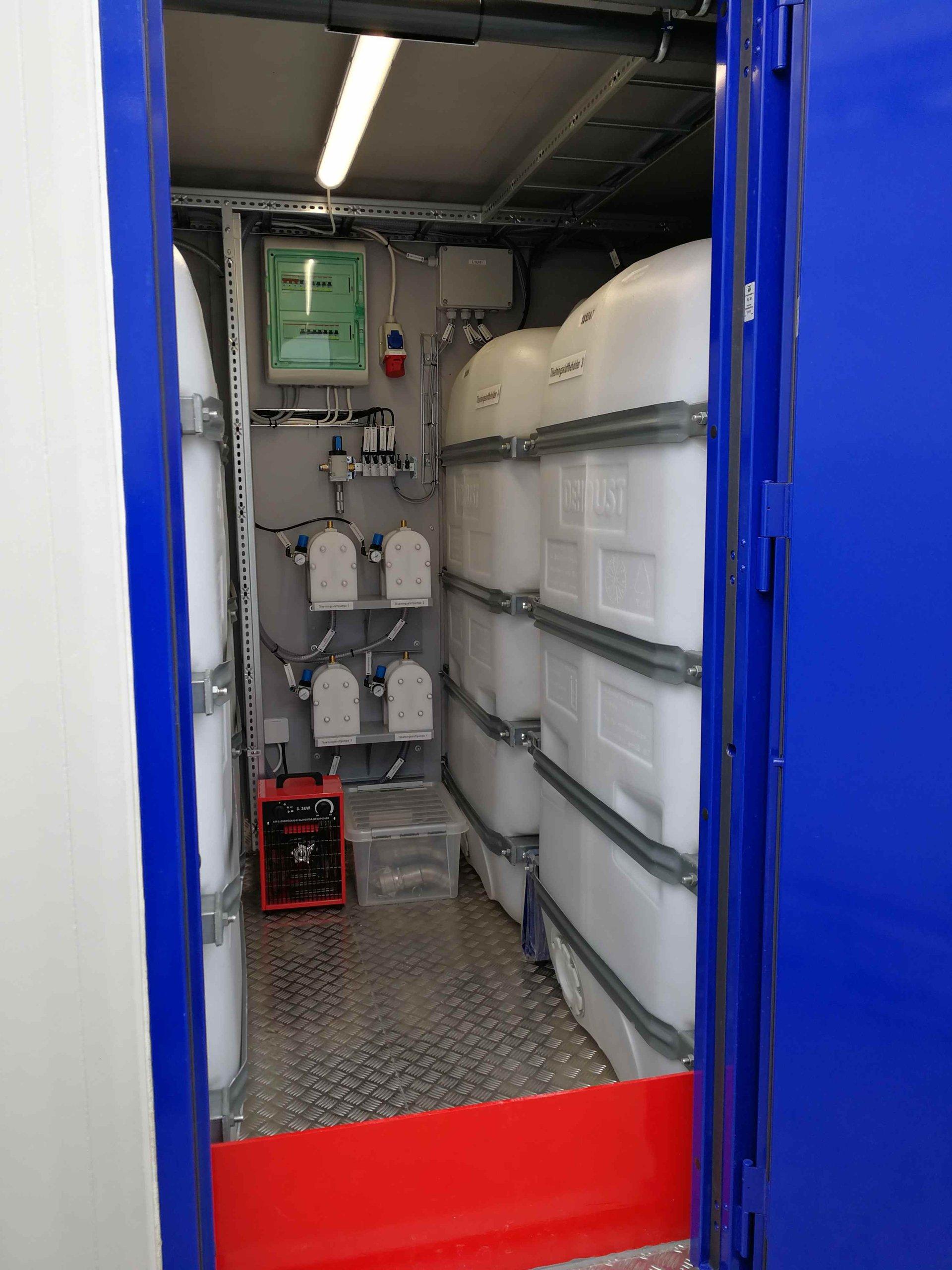Передвижной бетонный завод -  система дозирования жидких добавок