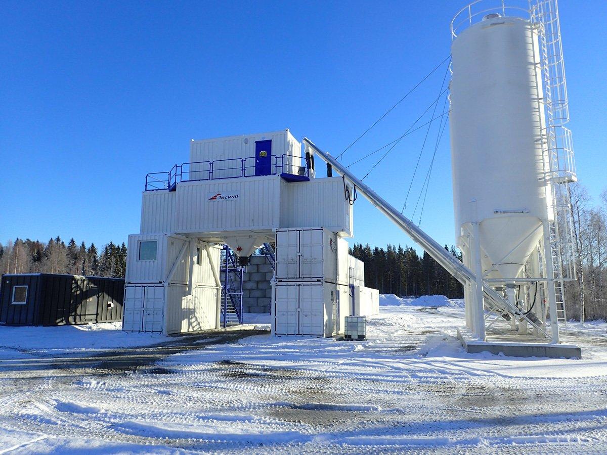 ARCAMIX Mischanlage für Betonproduktion auch im Winter!