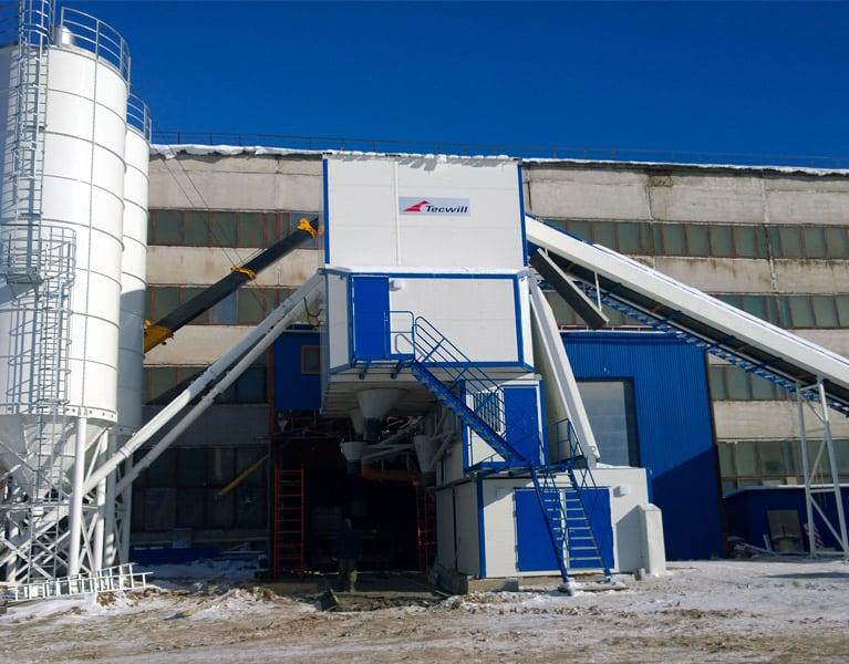 Precast concrete element or concrete block factory