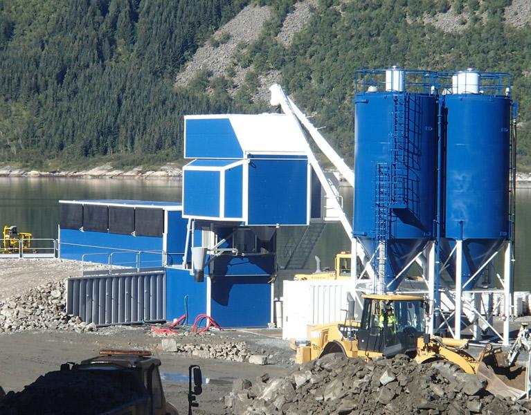 Ison rakennusprojektin betonin tuotannon järjestäminen